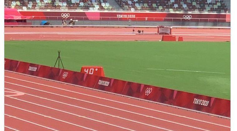 【東京暑すぎ】国立競技場、ついに午前中「気温40℃」を記録をしてしまう...これにはBBCのキャスターも泣く