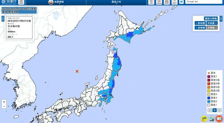 【異常震域】日本海震源の「M6.1」の地震で、太平洋側が揺れた理由とは...?