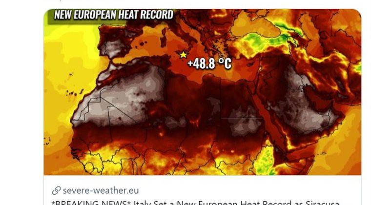 【熱波】イタリア・シチリア島で気温「48.8℃」を記録…ヨーロッパ観測史上最高温度