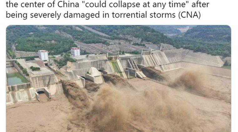 【異常気象】中国のダム2つが決壊…記録的大雨により大洪水に