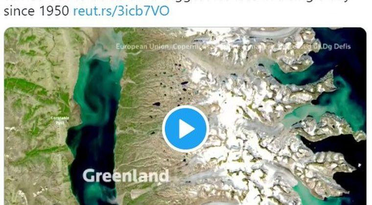 【異常気象】グリーンランド氷床、熱波で「大規模融解」している事実