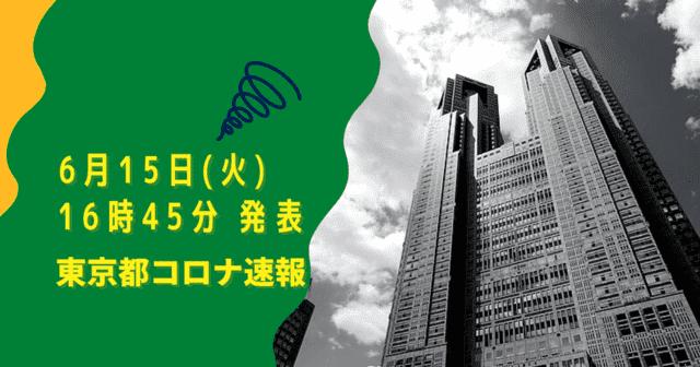 【速報】東京都 新型コロナ感染者数を発表 6月15日 検査数、能力のたった6%