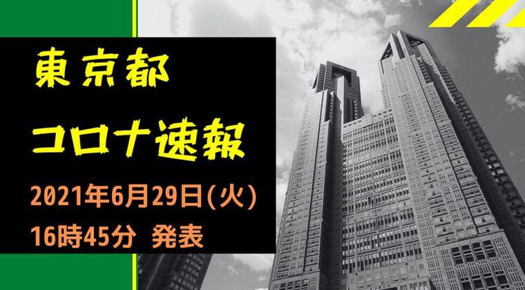 【速報】東京都 新型コロナ感染者数を発表 6月29日 検査数は火曜日で少なめ