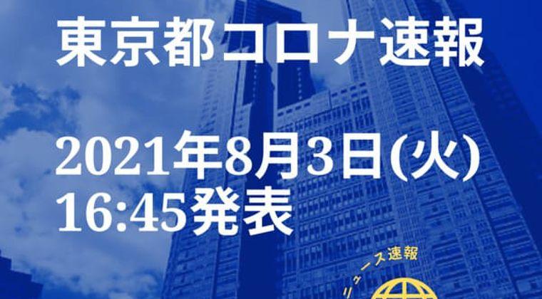 【速報】東京都 新型コロナ感染者数を発表 8月3日 検査数 スパイクさせる