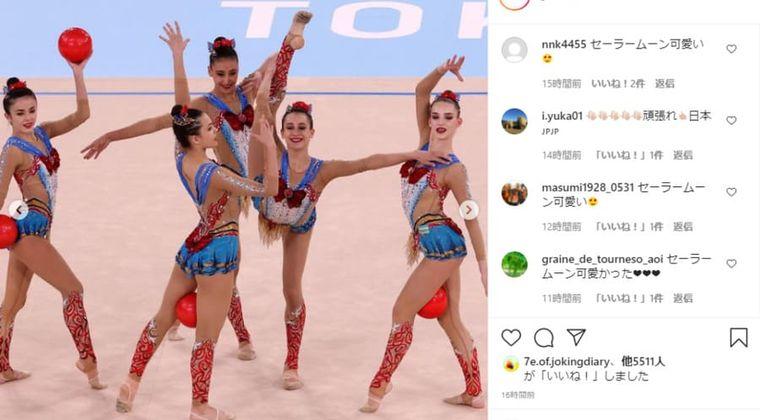 【東京五輪】新体操団体ウズベキスタン「セーラームーン」で舞う…曲はムーンライト伝説