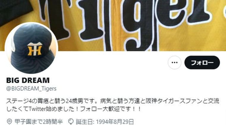 ステージ4の胃癌なんJ民(阪神ファン)3ヶ月の余命宣告からたった3週間で死去