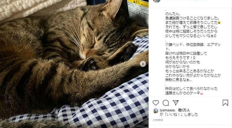 遠藤和さんの現在、がんの症状悪化!?妹インスタで告白「酸素つけることに」