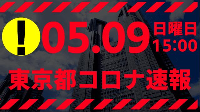 【速報】東京都 新型コロナ感染者数を発表 5月9日 検査数、ガチでヤバい!