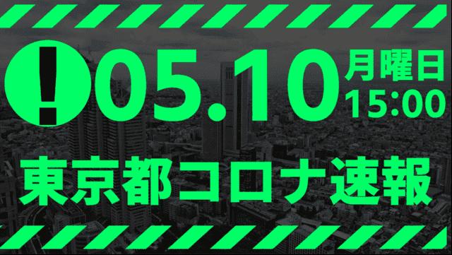 【速報】東京都 新型コロナ感染者数を発表 5月10日 検査数、異常すぎる激減