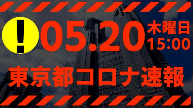 【速報】東京都 新型コロナ感染者数を発表 5月20日 検査数ガチでヤバ過ぎる