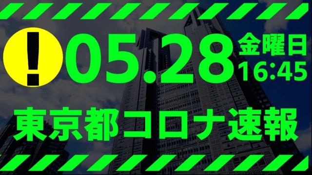 【速報】東京都 新型コロナ感染者数を発表 5月28日 検査数、能力の13%台…
