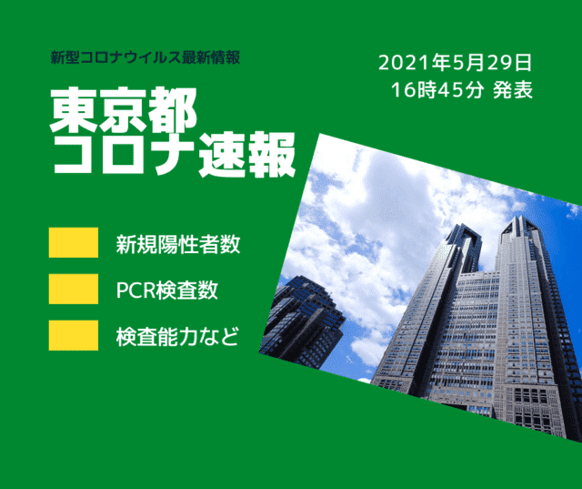 【速報】東京都 新型コロナ感染者数を発表 5月29日 検査数、下げ止まり