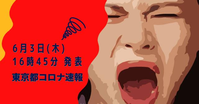 【速報】東京都 新型コロナ感染者数を発表 6月3日 検査数 前日から8707件UP