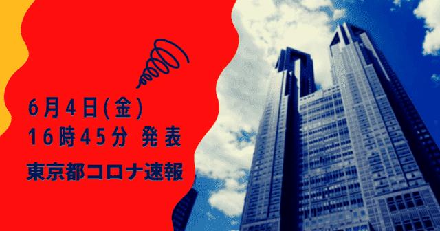 【速報】東京都 新型コロナ感染者数を発表 6月4日 検査数 激減 能力の12%に