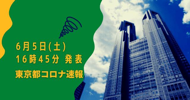 【速報】東京都 新型コロナ感染者数を発表 6月5日 検査数 能力の11%台