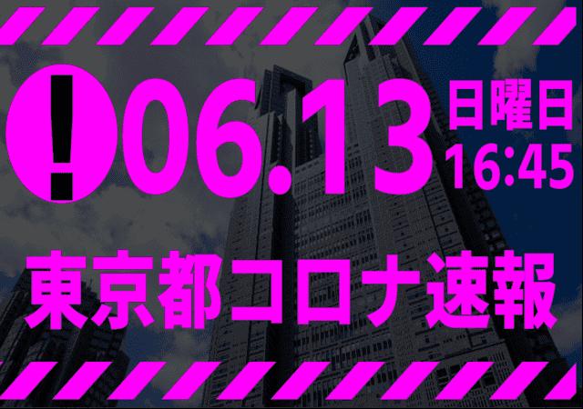 【速報】東京都 新型コロナ感染者数を発表 6月13日 検査数 能力のたった1割