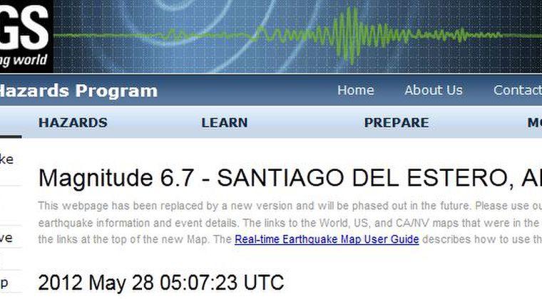 アルゼンチンでM6.7 パラグアイではM6.9の地震