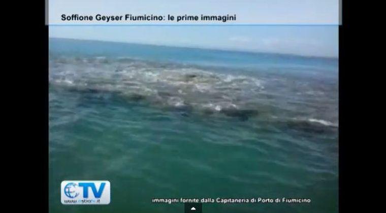 イタリア、ダビンチ空港の海岸沖約100m地点の海底に異変