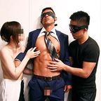スーツ姿も逞しいノンケが、男女3人に性感帯をいじり倒され快感射精!