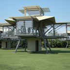 【画像】折りたたみ式の家!コンテナ状から変形・展開する家が凄い!!