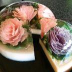 【画像】本物のお花を閉じ込めたようなケーキが凄い!!