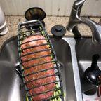 外で使える!大きなお肉と大量のアスパラを一気に焼ける網が魅力的!!