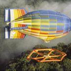 飛行船に吊るされた!超巨大なハンモックが凄い!!