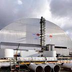 チェルノブイリ原子力発電所の石棺の改修作業・・・