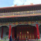 巨大な中国寺 ワット・ボロム・ラーチャー・ガーンジャナーピセークでお参り in ノンタブリー県