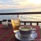 キャベジズ・アンド・コンドームズで海に沈む夕陽を眺めながら夕食 in パタヤ