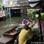 クローンラットマヨム水上マーケットはバンコクにあるローカル感漂う水上マーケット