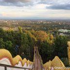 ワット・プラタート・ドイカムはドイステープより気楽に絶景が楽しめる山の麓にある寺院