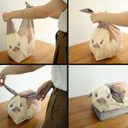 【画像】結ぶとウサギになる風呂敷がかわいい!!