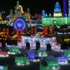 中国の雪祭りがなんだか華やか!