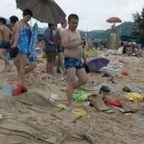 【画像】さすが!中国の海水浴場がゴミで凄まじく汚い!!