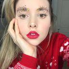 【画像】クリスマスをイメージした眉毛のメイクが何だかすごい!!