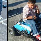 【画像】スーツケースがゴーカートに変身!!折りたたみ式エンジン付きのカートが凄い!!