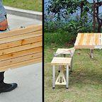 【画像】持ち運び簡単!鞄のように片手でもてる机と椅子のセット!!
