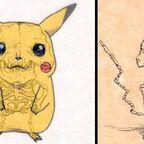 アニメや漫画のキャラクターの骨格のイメージ画像が凄いwww