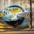 驚きの立体感!町に描かれた3Dウォールアートの画像の数々!!