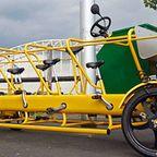 10人乗れる!?みんなで協力する幼稚園通学用の自転車!!