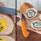 【画像】切ったら絵が出る独創的な食パンが可愛い!!