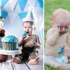 【画像】ちょっと悲しい赤ちゃんとの記念撮影の理想と現実…
