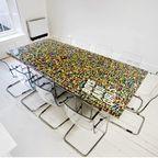 【画像】レゴで作った!大きなテーブルが素敵!!