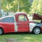 【画像】修理方法が驚異的に雑すぎて、凄いことになってる自動車の数々!!