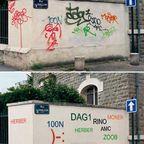 【画像】意味あるの?壁の落書きの文字を読みやすくするお仕事…