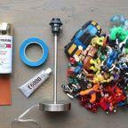 【画像】子供の頃の思い出の玩具で作るカッコいい卓上ライト!!