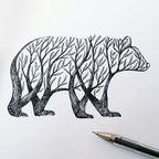 【画像】木でできた動物に見えるアートがちょっと素敵!!