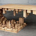 【画像】大きな街を再現したテーブルが凄い!!