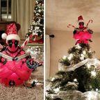かなりカオスなクリスマスツリーの上の飾りの画像の数々!!